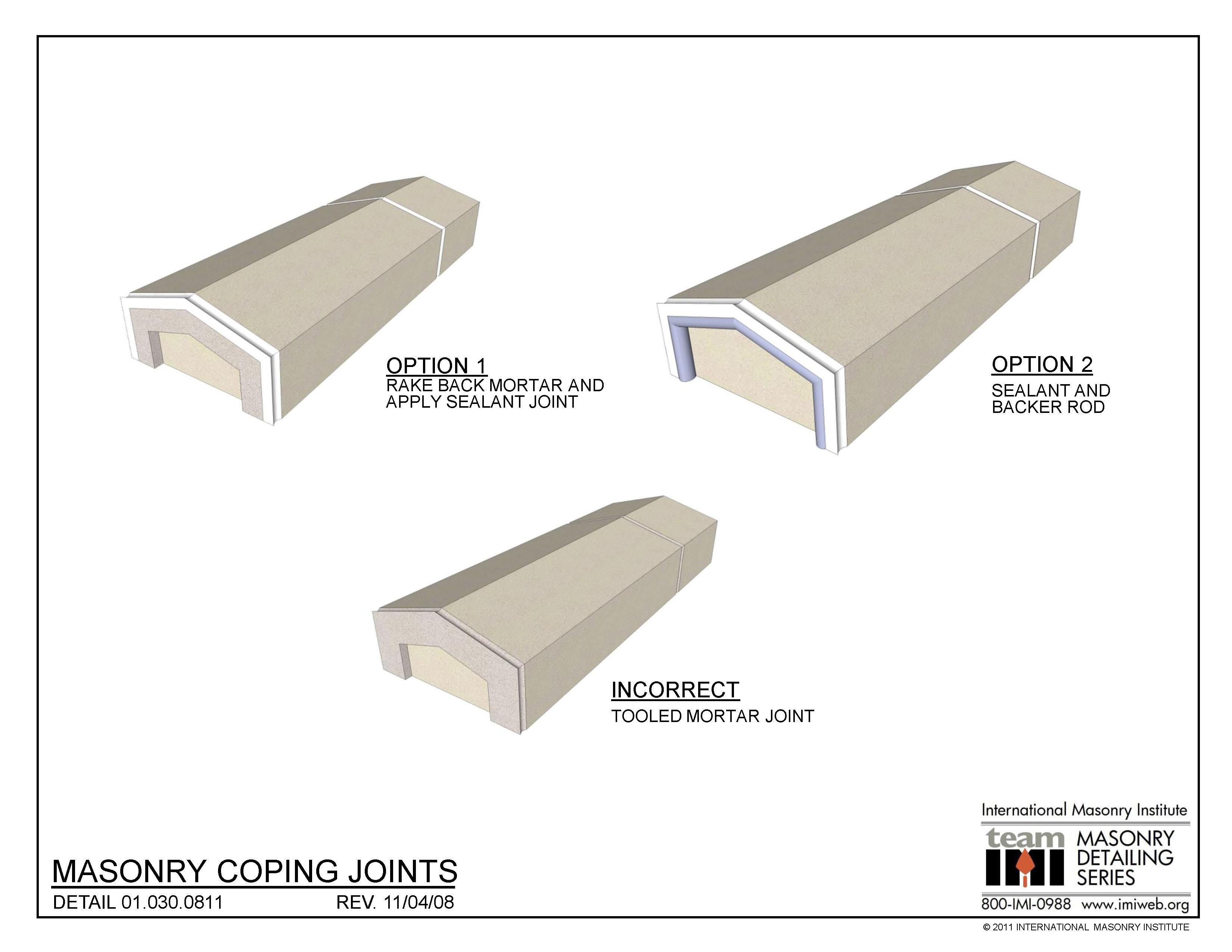 01 030 0811 Masonry Coping Joints International Masonry
