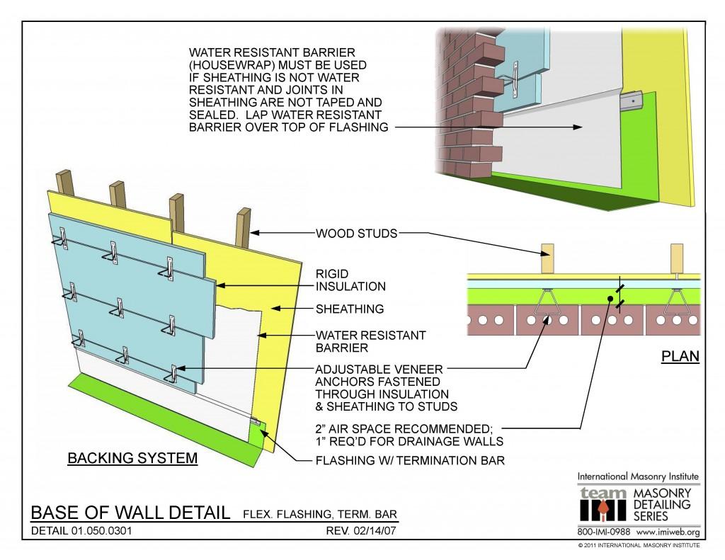 01 050 0301 Base Of Wall Detail Flex Flashing Term