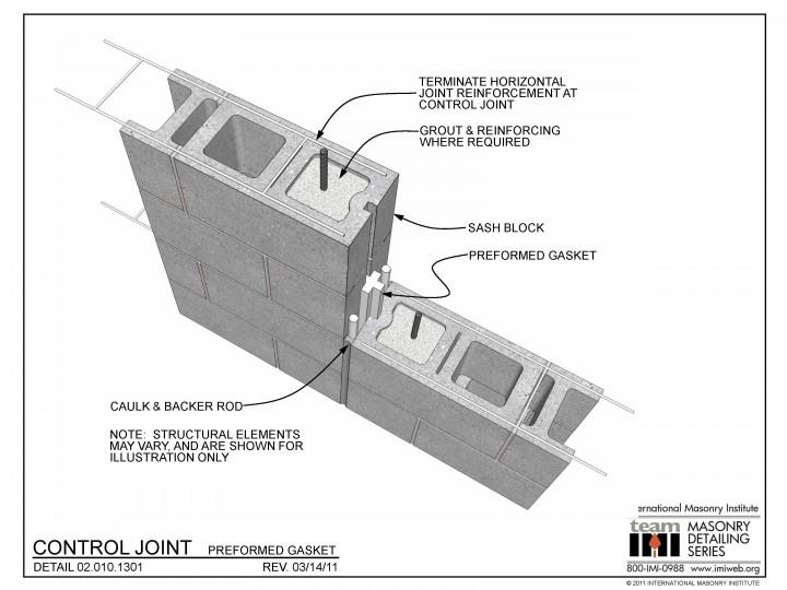 02.010.1301 Control joint - Preformed gasket