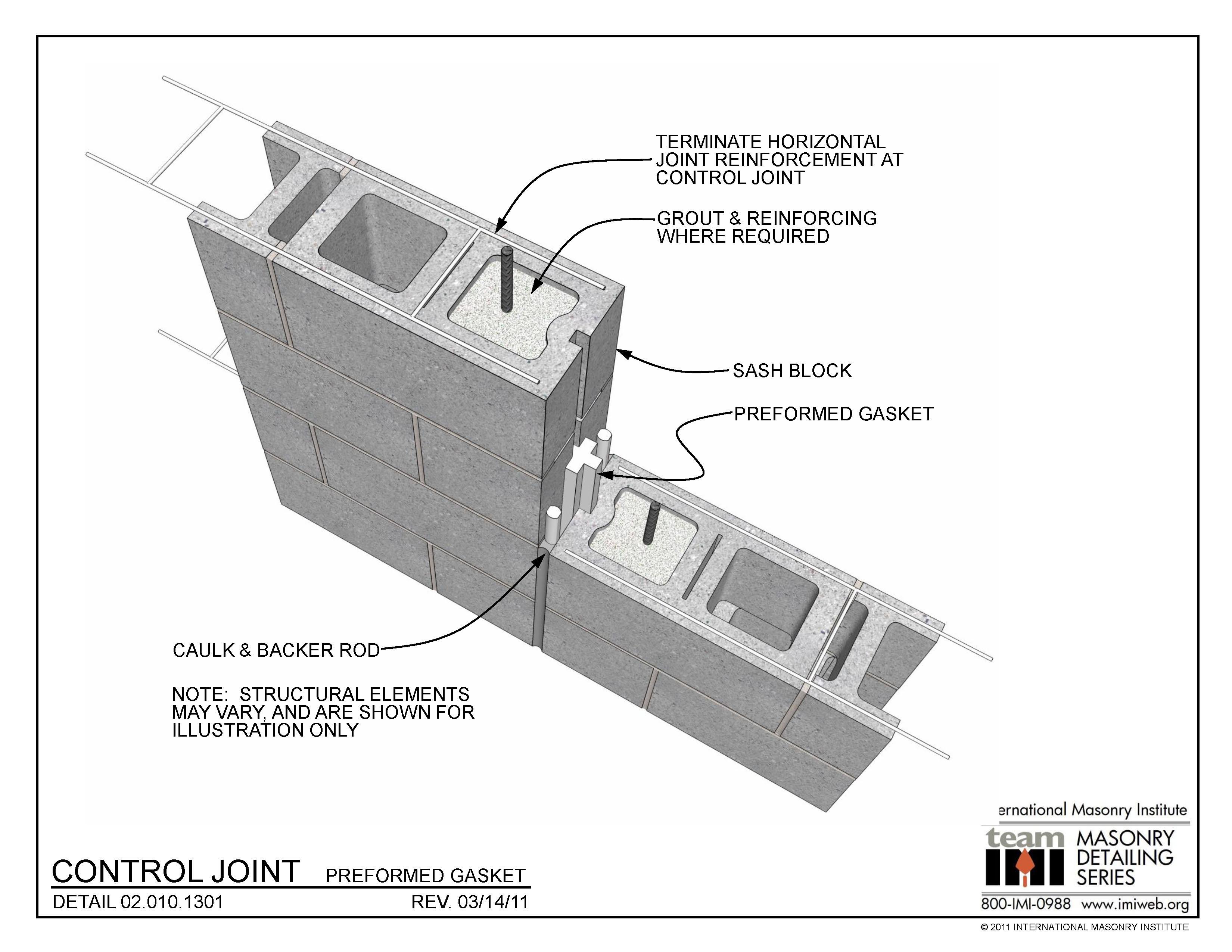 02 010 1301 Control Joint Preformed Gasket