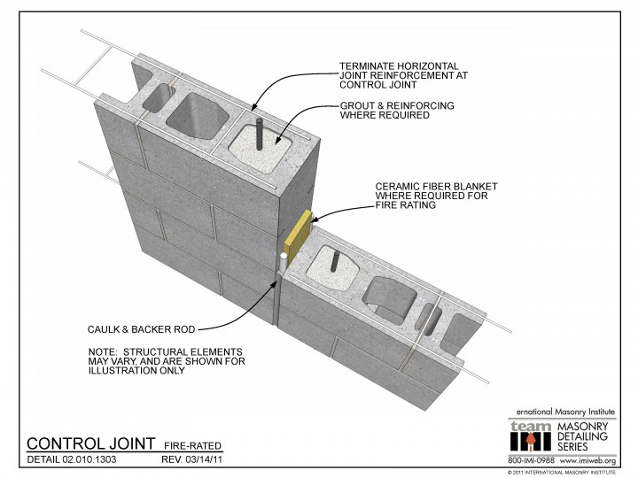 02.010.1303 Control joint - Fire-rated