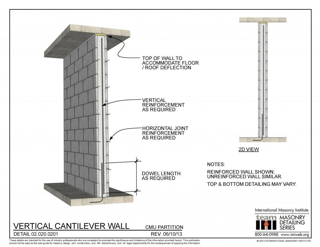 02 020 0201 Vertical Cantilever Wall International