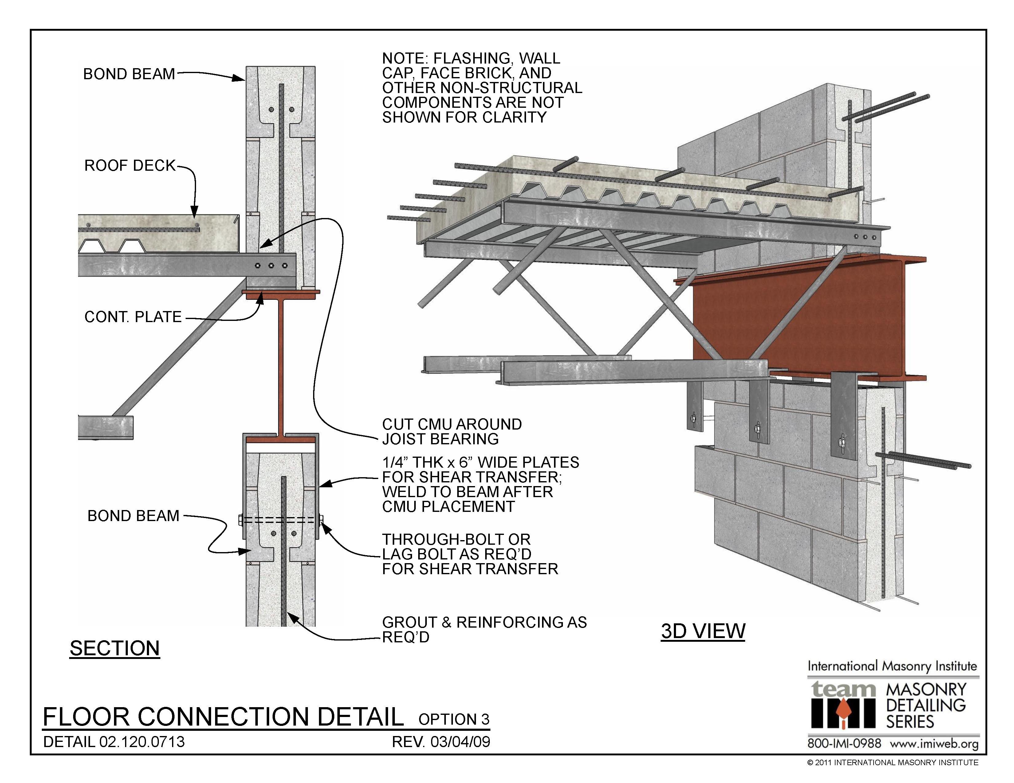 02 120 0713 Floor Connection Detail Option 3