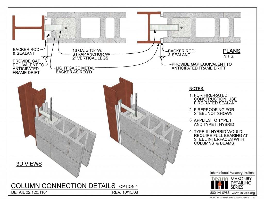 02 120 1101 Column Connection Details Option 1