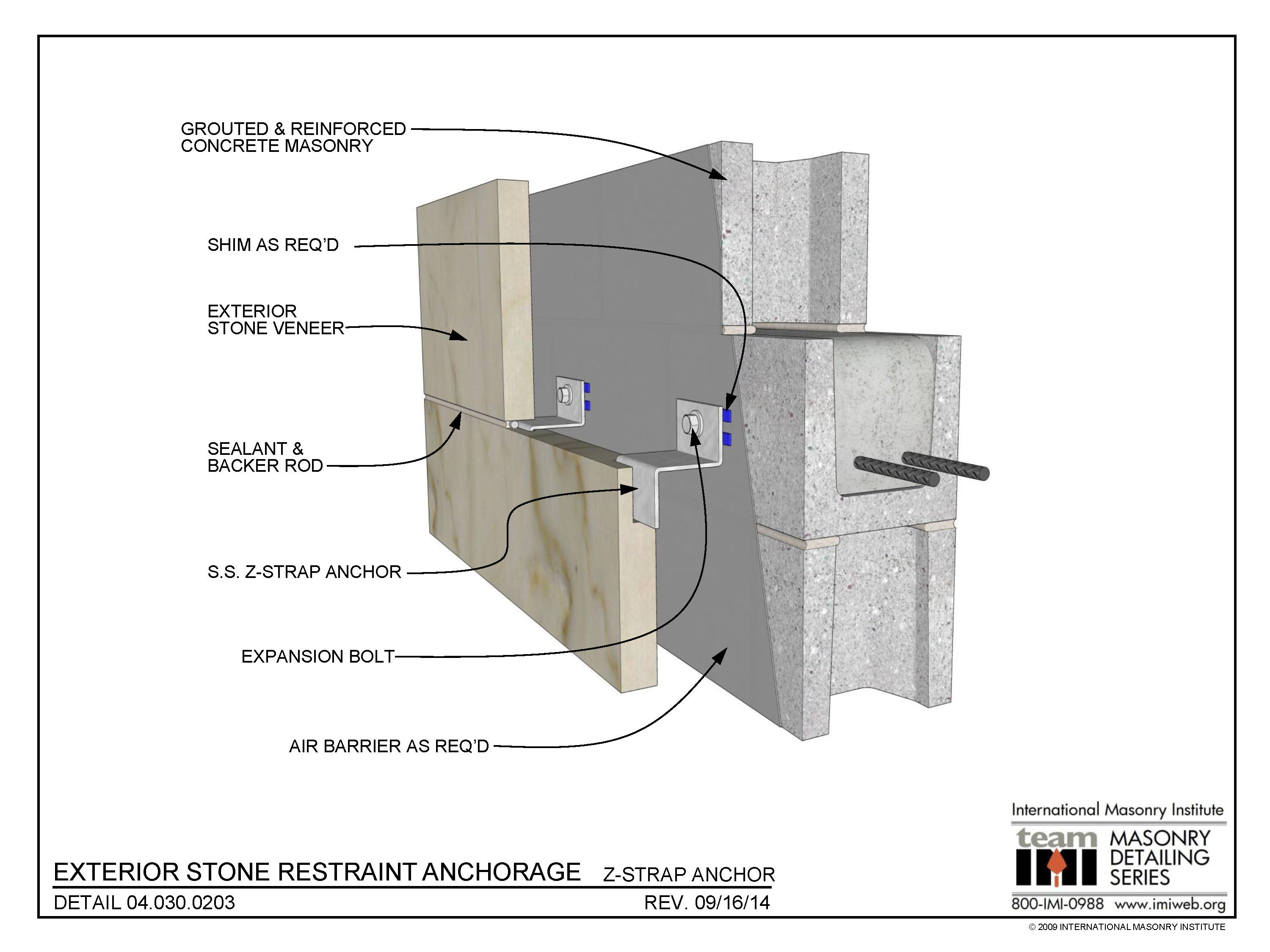 04 030 0203 Exterior Stone Restraint Anchorage