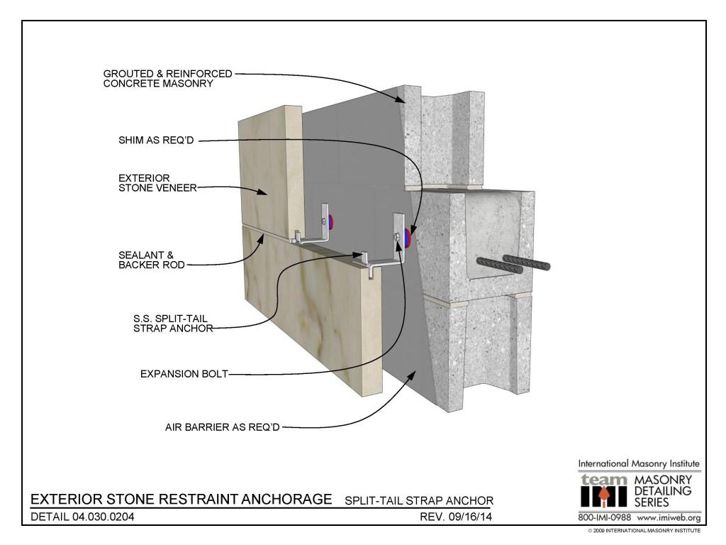 04 030 0204 Exterior Stone Restraint Anchorage
