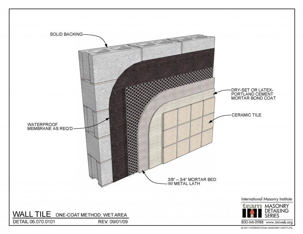 06 070 0101 Wall Tile One Coat Method Wet Area