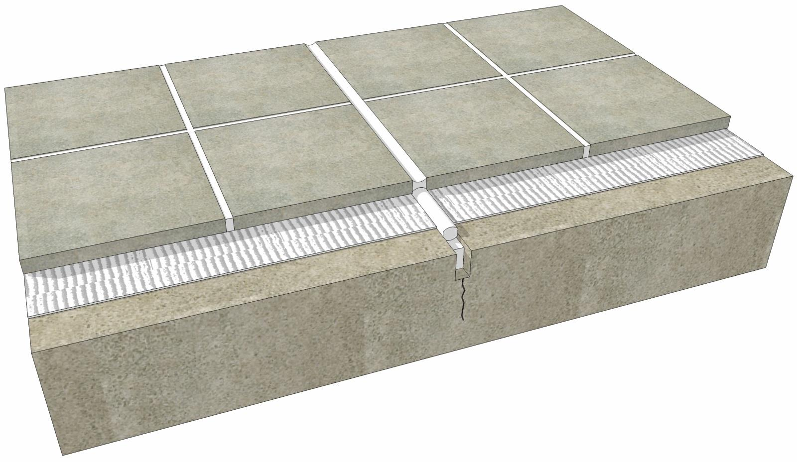 06 130 1302 Floor Tile Expansion Joint Over Concrete