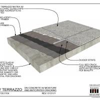 071300104 Epoxy Terrazzo On Concrete W Moisture And Anticipated Cracking November 4 2015