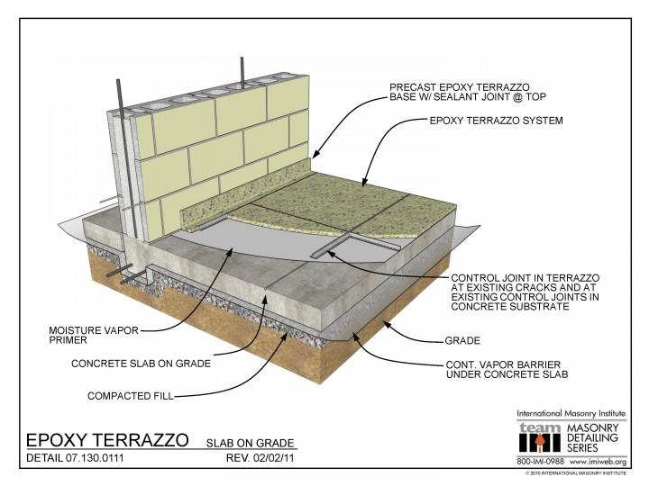 07 130 0111 Epoxy Terrazzo Slab On Grade