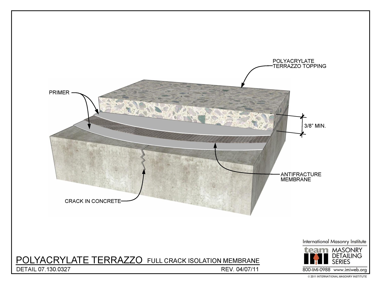 07 130 0327 Polyacrylate Terrazzo Full Crack Isolation