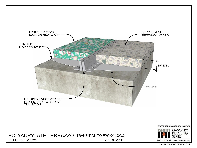 07 130 0328 Polyacrylate Terrazzo Transition To Epoxy