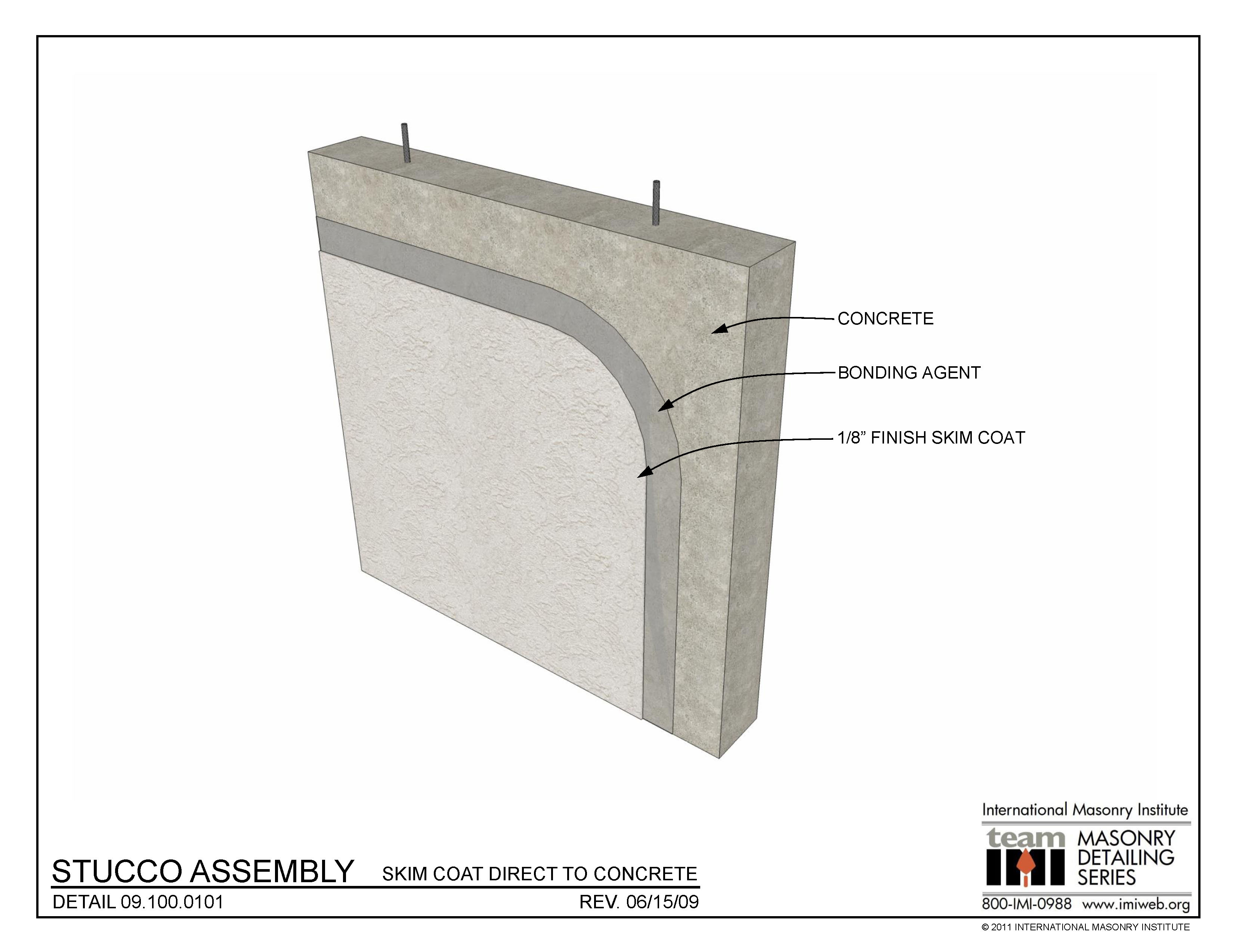 09 100 0101 Stucco Assembly Skim Coat Direct To