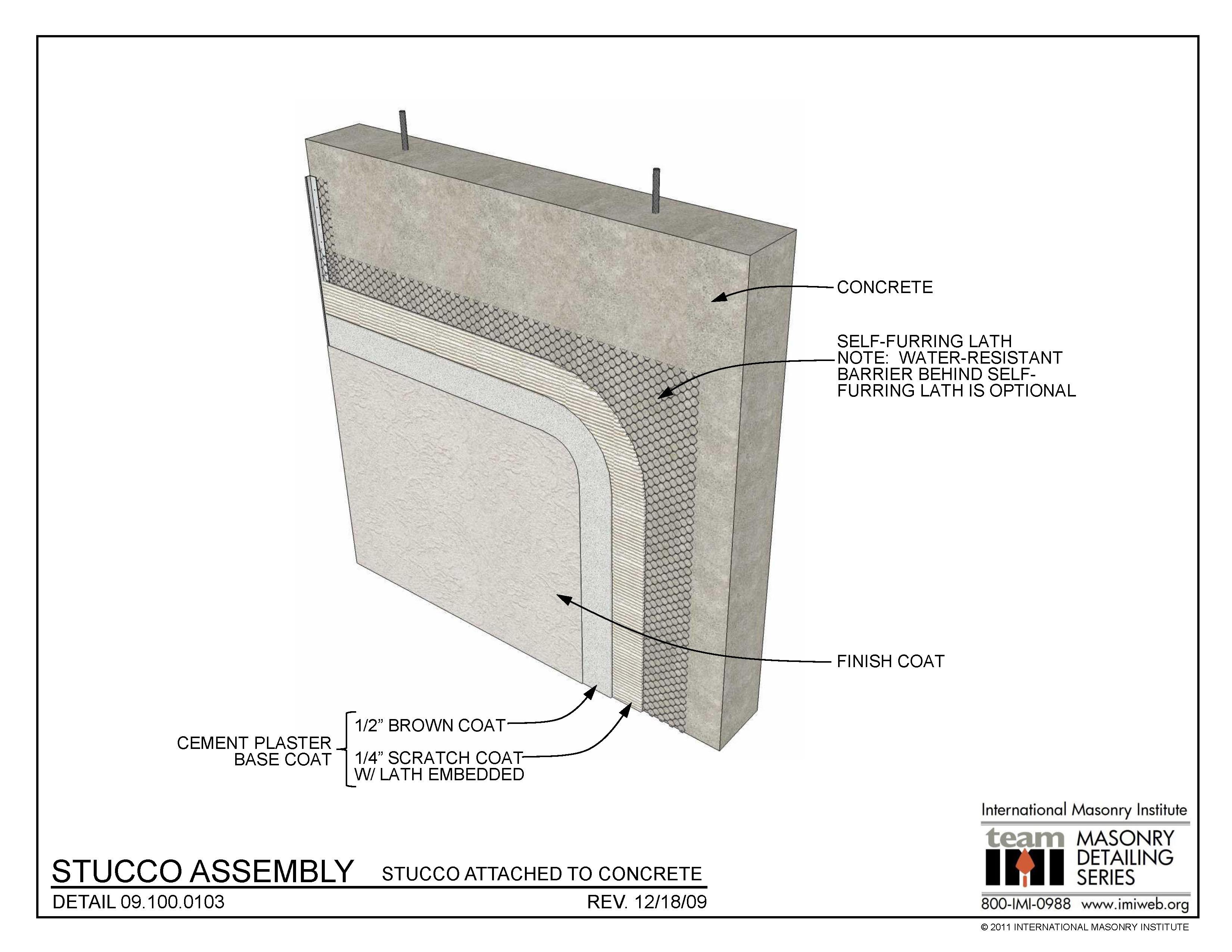 09 100 0103 Stucco Assembly International Masonry Institute