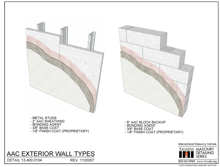 13 400 0104 Aac Exterior Wall Types International