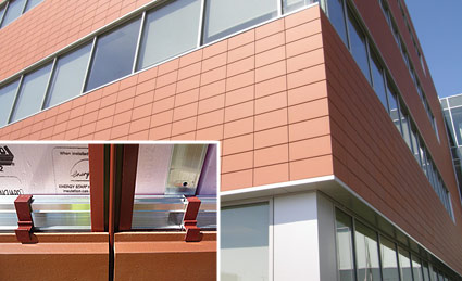 Members of the WI ADC working for Kinateder Masonry installed terra cotta masonry rain screen walls on two of the four buildings of Kerry America's corporate headquarters in Beloit, WI. Their collaboration earned the BAC Craft Award for Best New Masonry System.