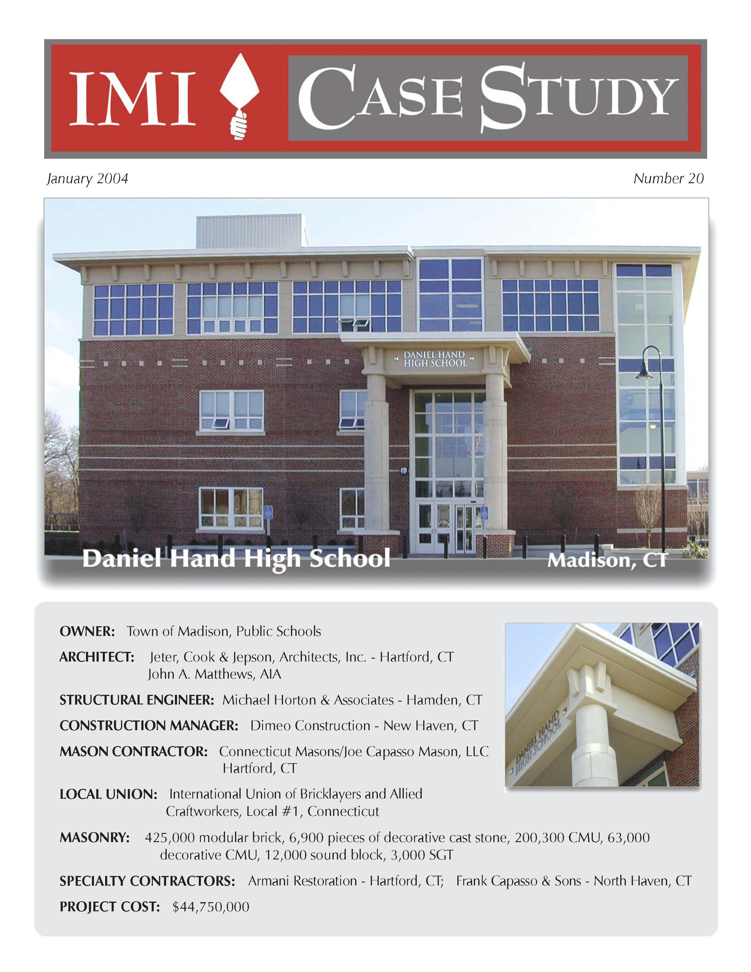 daniel hand high school madison ct international masonry institute